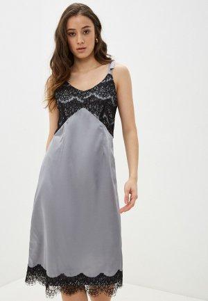 Платье Lautus. Цвет: серый