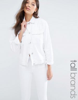 Джинсовая куртка Waven Tall. Цвет: белый