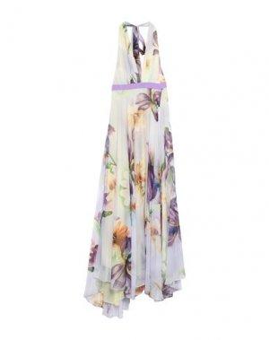 Длинное платье HANITA. Цвет: светло-желтый