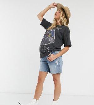 Голубые шорты бойфренда -Синий Urban Bliss Maternity