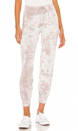 Спортивные брюки watercolor LA Made. Цвет: беж