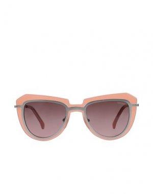 Солнечные очки KOMONO. Цвет: лососево-розовый