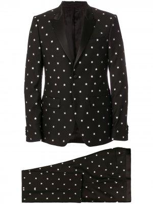 Костюм-двойка со звездами Givenchy. Цвет: черный