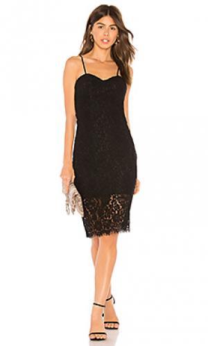 Кружевное платье pierre Bardot. Цвет: черный