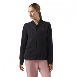 Куртка-бомбер Reebok. Цвет: black
