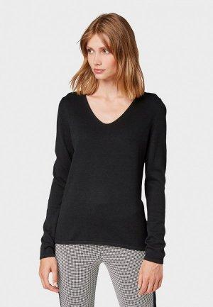 Пуловер Tom Tailor. Цвет: черный