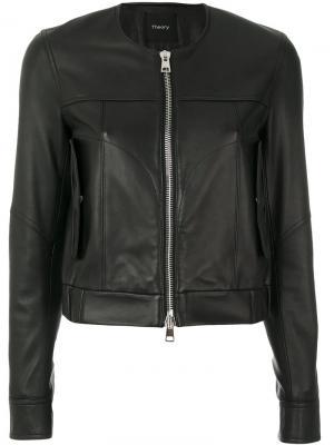 Куртка на молнии Theory. Цвет: черный