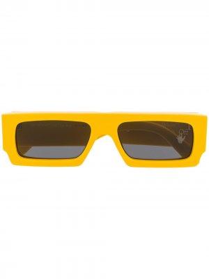 Солнцезащитные очки с логотипом Arrows Off-White. Цвет: желтый