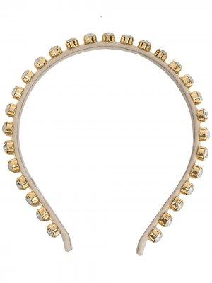 Ободок Clotilde с кристаллами Ca&Lou. Цвет: золотистый