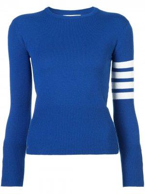 Классический пуловер с круглым вырезом Thom Browne. Цвет: синий