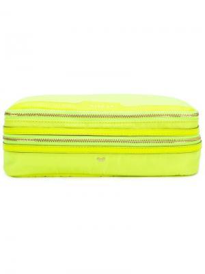 Zipped make-up bag Anya Hindmarch. Цвет: желтый