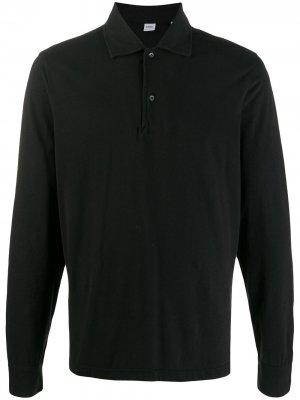 Рубашка-поло с длинными рукавами Aspesi. Цвет: черный