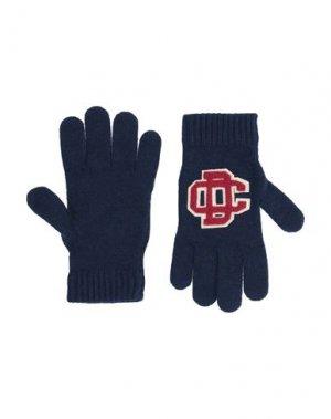 Перчатки DSQUARED2. Цвет: темно-синий