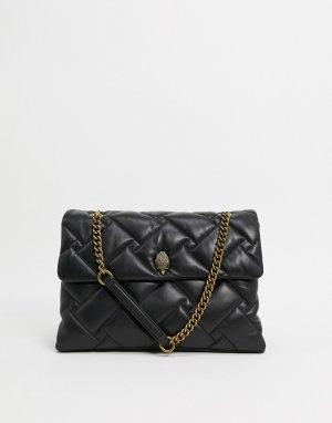 Черная большая кожаная сумка -Черный Kurt Geiger London