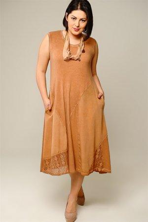 Платье Caramelo. Цвет: коричневый