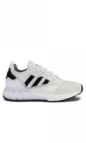 Кроссовки zx 2k boost adidas Originals. Цвет: белый