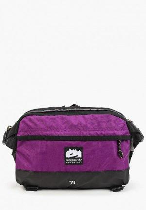 Сумка поясная adidas Originals WAISTBAG L. Цвет: черный