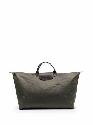 Большая дорожная сумка Le Pliage Longchamp. Цвет: зеленый