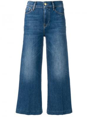 Укороченные широкие джинсы FRAME