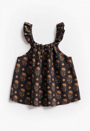 Блуза Mango Kids MATI. Цвет: разноцветный