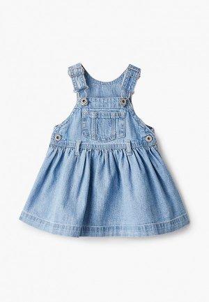 Платье джинсовое Gap. Цвет: голубой