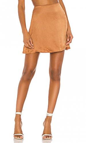 Юбка мини dandelion Indah. Цвет: тёмно-оранжевый