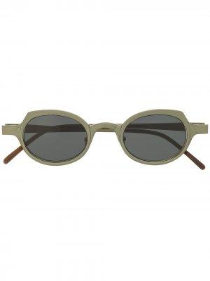 Солнцезащитные очки RG0090 в круглой оправе Rigards. Цвет: черный
