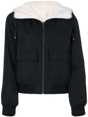 Куртка-бомбер Army Yves Salomon. Цвет: чёрный