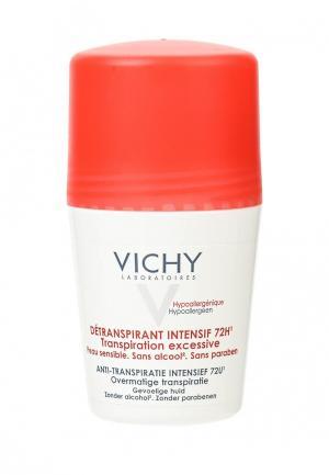 Дезодорант Vichy анти-стресс 72 часа защиты от избыточного потоотделения, 50 мл. Цвет: белый