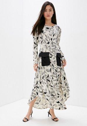 Платье Adzhedo. Цвет: белый
