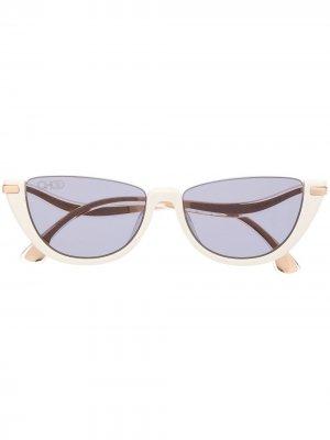 Солнцезащитные очки в оправе кошачий глаз Jimmy Choo Eyewear. Цвет: белый