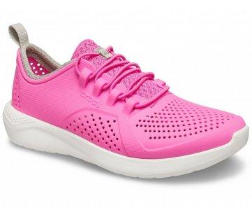 Кроссовки детские CROCS Kids' LiteRide™ Pacer électrique Pink/White арт. 206011. Цвет: électrique pink/white