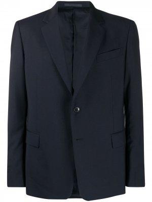 Однобортный костюмный пиджак Valentino. Цвет: синий