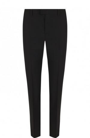 Однотонные брюки прямого кроя из эластичной шерсти REDVALENTINO. Цвет: чёрный