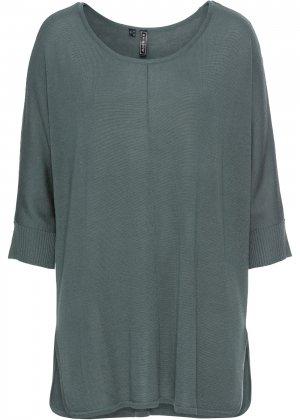 Пуловер bonprix. Цвет: зеленый