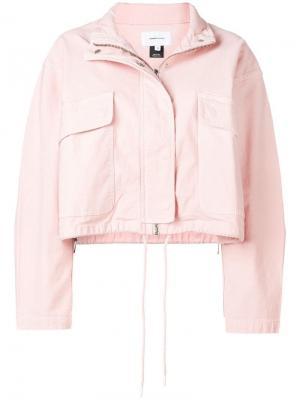 Укороченная куртка на молнии Current/Elliott. Цвет: розовый
