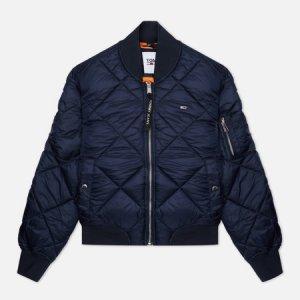 Женская куртка бомбер Essential Diamond Quilted Tommy Jeans. Цвет: синий