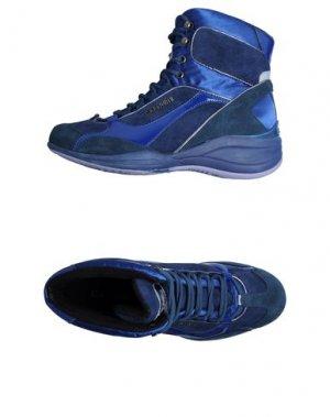 Обувь на танкетке CAFèNOIR. Цвет: темно-синий