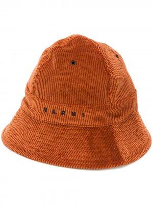 Вельветовая панама Marni. Цвет: коричневый