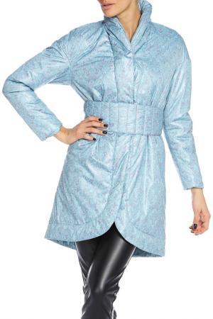 Куртка Анна Чапман. Цвет: бирюзовый