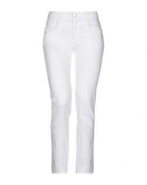 Джинсовые брюки 75 FAUBOURG. Цвет: белый