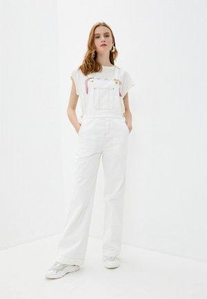 Комбинезон джинсовый Ba&Sh. Цвет: белый