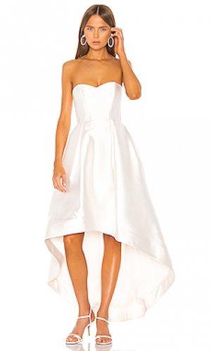 Вечернее платье roxanne Parker Black. Цвет: белый