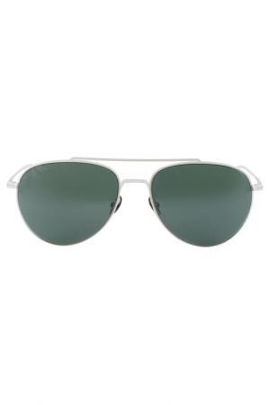Очки солнцезащитные Lacoste. Цвет: белый