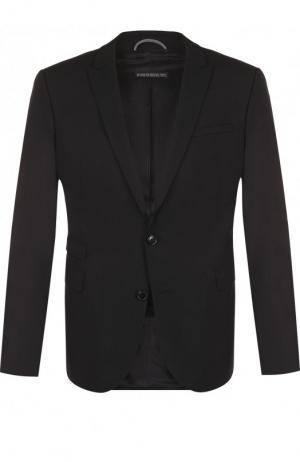 Однобортный шерстяной пиджак Drykorn. Цвет: черный