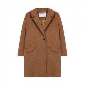 Пальто из шерсти и льна Designers, Remix girls. Цвет: бежевый