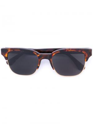 Солнцезащитные очки в черепаховой оправе Retrosuperfuture. Цвет: коричневый