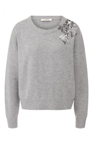 Пуловер из смеси шерсти и кашемира Dorothee Schumacher. Цвет: серый