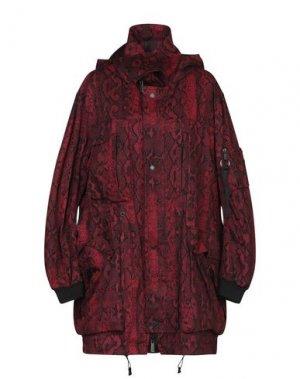 Легкое пальто MARCELO BURLON. Цвет: красно-коричневый