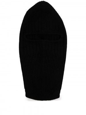 Кашемировая балаклава в рубчик Boris Bidjan Saberi. Цвет: черный